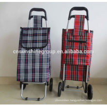 Folding shopping trolley bag/portable luggage bag with wheels