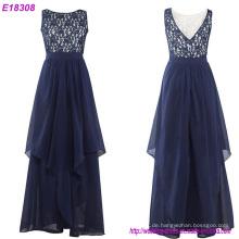 Reizvolle schwarze O-Ansatz Spitze-Abend-Kleid-formales Kleid-Abschlussball-Partei-Kleid