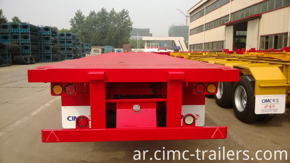 R 40 Tri Axle Flatbed Semi Trailer