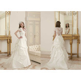 New Design Lace and Satin Wedding Dresses (T10294)
