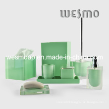 Transparent Polyresin Bathroom Set (WBP0202B)