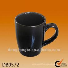 Decalque design preto copos de chá e canecas de cerâmica vitrificada