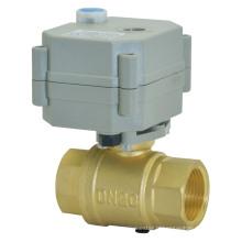 Vanne à bille en laiton motorisée OEM DC3V / 12V / 24V avec fonctionnement manuel (T20-B2-B)
