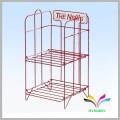 wire display rack outdoor newspaper stand