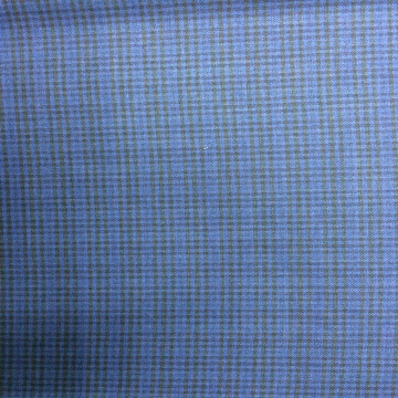 Electric Navy Gingham Worsted Woven Fabric