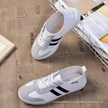 Zapatillas de lona de tela de algodón transpirable para hombre