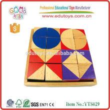 2015 Brinquedos educativos em blocos de madeira, blocos de brinquedos Intellect, Brinquedos de blocos de construção de alta qualidade