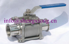stainless steel 3-PC clamp end ball valve