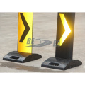 Panneau pliant de délinéateur de Chevron en plastique jaune de sécurité de la route de la circulation UPVC