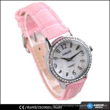 lovely pink leather strap ladies fashion watches cheap