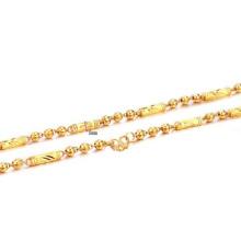 Chaîne de collier en or mince de placage de cuivre, bijoux de chaînes d'or de lien cubain