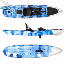 fishing foot pedal kayaks with rudder system and aluminum frame seat