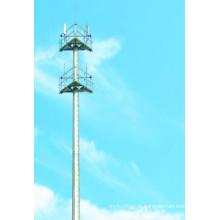 Galvanizado e em pó revestido Telecomunicação Pólos de aço