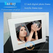 marco de fotos digital multi funcional marco acrílico 12