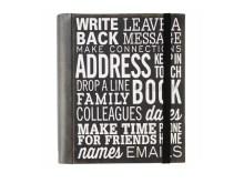 Black Leather Address Journal