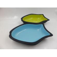 Plato de cerámica para gatos en forma de pez