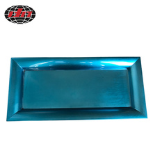 Metallic Blue Plastic Charger Plate