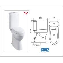 Двухкомпонентный туалет для стирки с сертификацией Ce / Watermark (CVT8002)