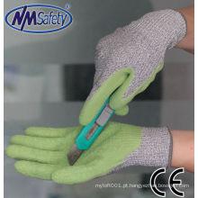 Luvas de borracha de látex NMSAFETY mão de corte resistente