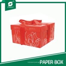 Benutzerdefinierte rote Würfel Geburtstag Kuchen Hochzeitstorte Box
