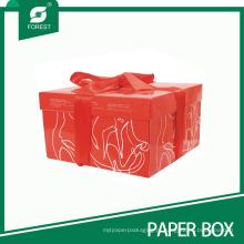 Caixa de bolo de casamento de bolo de aniversário de cubo vermelho personalizado