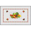 Heißer Verkauf (TZ-0028) Alle in einem unabhängigen Design PVC gedruckt transparente Tischdecke für Home / Party / Hochzeit