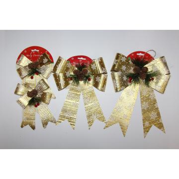 Noeud de ruban d'emballage de Noël pour la décoration