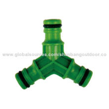 """Lawn Watering 3-way Hose Coupling, 1/2"""" Water Outlet and Inlet"""