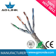 8Cores High Twisted SFTP Cat7 Braiding Wire Shielded Lan Cable