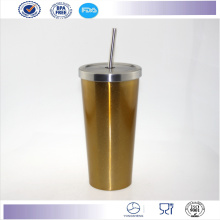 New High Capacity Best Quality Starbucks Mug with Lid Stainless Steel Straw Mug Cup