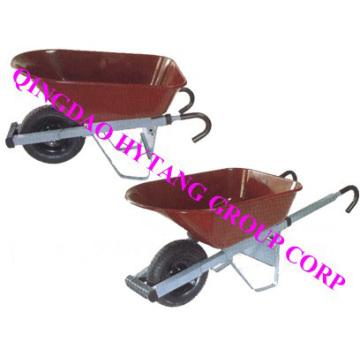 100l Iron Tray,handle Extension Type Wheelbarrow Wbzd08