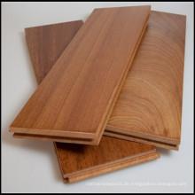Natürlicher fester Sapele Holzbodenbelag