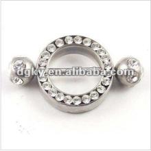 Heißer Verkauf heller Kristallnippel Piercingnippel barbell Ringe
