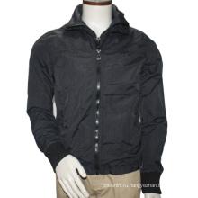 Мужская мода высокого шеи молнии куртка куртки 2016