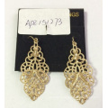 Fashion Jewelry Metal Gold Plated Lace Earrings