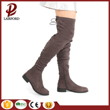 over-knee strap lace flat long winter boots