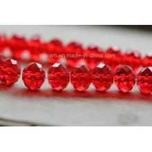 Grânulos de vidro de cristal de borda vermelha 4-12 mm