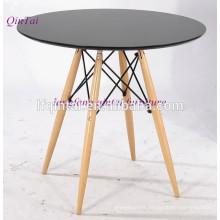 table à manger buffet plateau en MDF avec pieds en bois de plage
