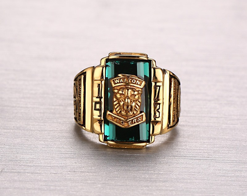 1973 Walton Champion Gold Stainless Steel Mens Ring