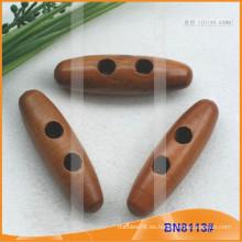 Moda de madera natural cuerno botón para las prendas de vestir BN8113