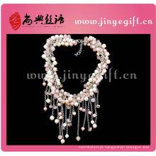 Moda Handmade Inicial Jóias Coloridas Tassel Bead Necklace