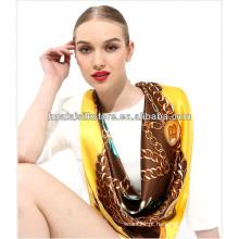 2014 Spring New Design Fashion mão lenço de seda pintado