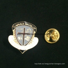 Divisa de encargo del Pin del metal de cobre amarillo redondo de la divisa de metal