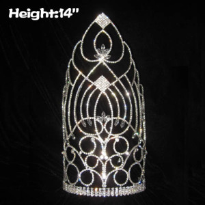 14in Height Tall Pegeant Queen Crowns