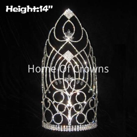 14 pulgadas de altura coronas de reina pegeant altas