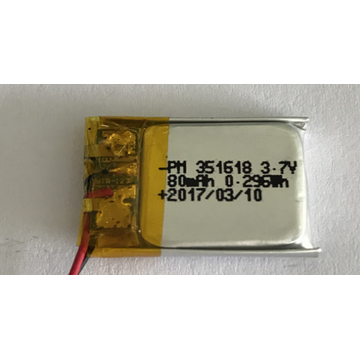 Bateria 80mAh Lipo para Smart Watch (LP1X1T3)