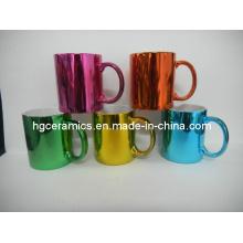 Tasses en couleur métallisée, tasse métallique de finition
