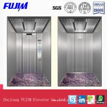Máquina de Design bonita Elevador de passageiros Roomless com teto de placa transparente Arylic