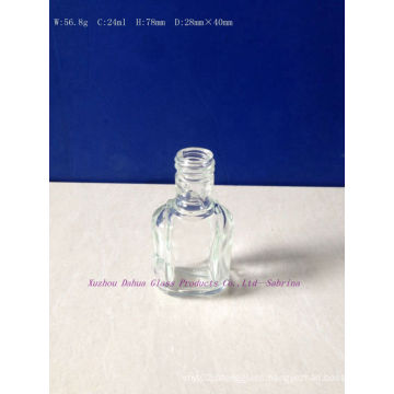 24ml Clear Glass Alcohol Bottles Gift Bottles with Screw Cap