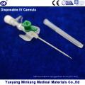 Boîte à cellules intraveineuses / cathéter intraveineux intraveineux muni d'une bombe 18 g